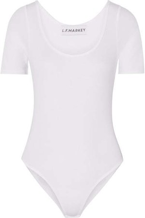 L.F.Markey - Connor Ribbed Stretch Cotton-blend Jersey Bodysuit - White