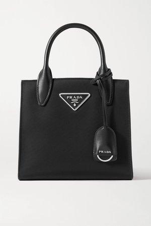 Black Tessuto Vitalo leather-trimmed nylon tote | Prada | NET-A-PORTER