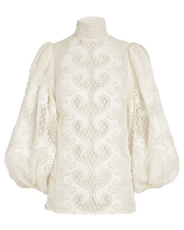 Zimmermann Brightside Embroidered Blouse | INTERMIX®