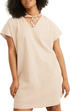 Stripe Button Back Easy Dress