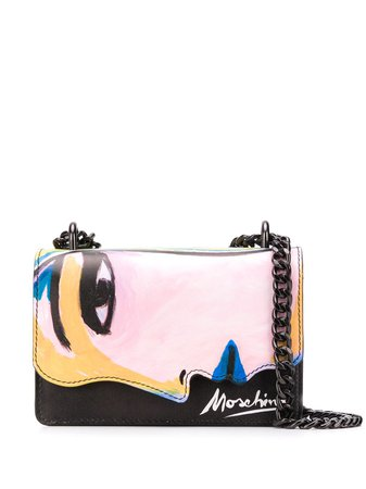 Moschino Painted Face Crossbody Bag A74998001 Pink | Farfetch