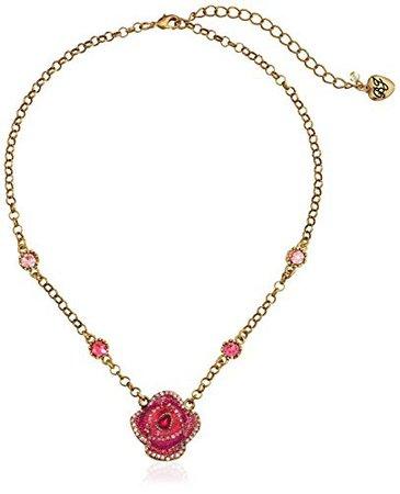"Betsey Johnson ""Creepshow Rose Necklace: Jewelry"