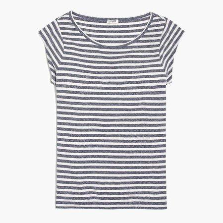 Striped linen ballet T-shirt