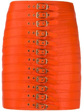 Manokhi Dita multi-buckle Detail Skirt - Farfetch