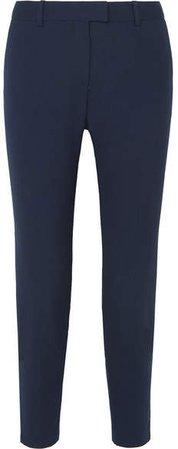 Henri Wool-blend Slim-leg Pants - Navy