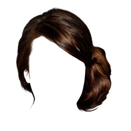 Dark Brown Hair Side Bun