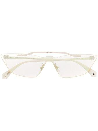 Off-White Metal Mask Geometric Frame Sunglasses - Farfetch