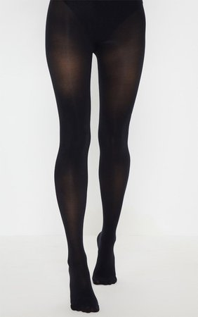 Black 60 Denier Opaque Tights | Accessories | PrettyLittleThing USA