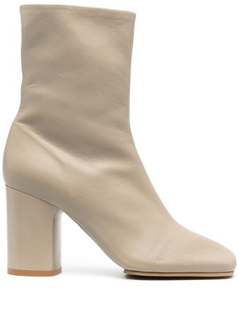 Acne Studios Leather mid-heel Ankle Boots - Farfetch