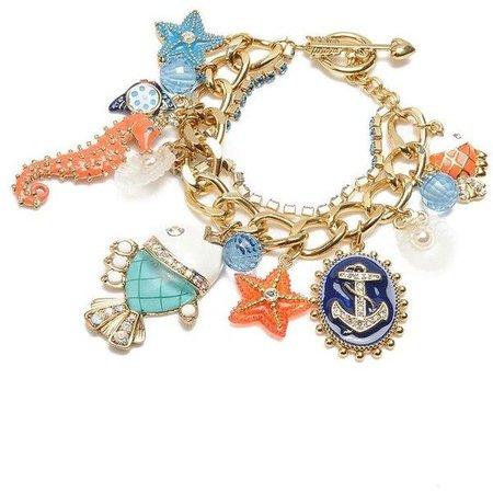 Sea/Mermaid Charm Bracelet