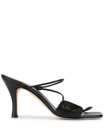 Christopher Esber Alexa Curved Strap Sandals RST20FTW11 Black | Farfetch