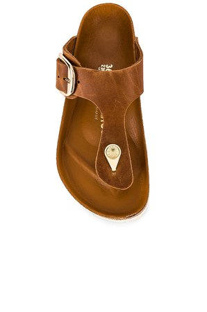 BIRKENSTOCK Gizeh Big Buckle Sandal in Cognac | REVOLVE