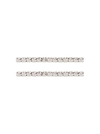 Jennifer Behr Gwen Crystal Hair Clips - Farfetch