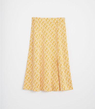 Floral Fluted Midi Skirt | LOFT