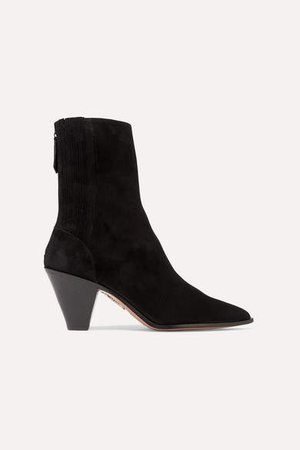 Saint Honore 70 Suede Sock Boots - Black