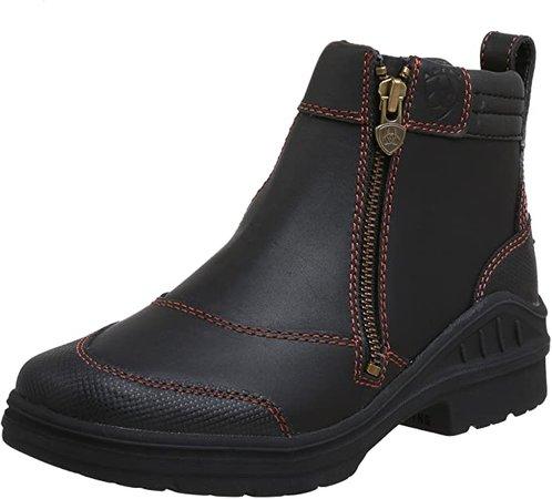 Amazon.com | Ariat Women's Barnyard Side Zip Barn Boot | Ankle & Bootie