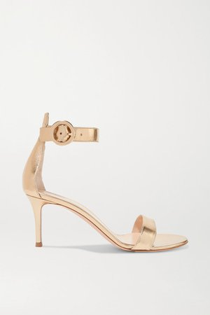 Portofino 70 Metallic Leather Sandals