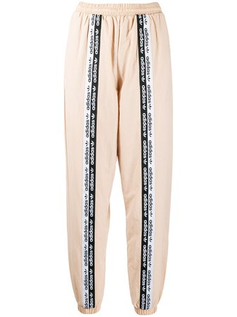 Neutral Adidas Logo Tape Track Pants | Farfetch.com