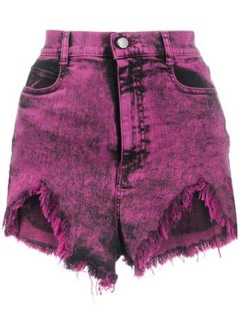 RedValentino Acid Wash Denim Shorts - Farfetch