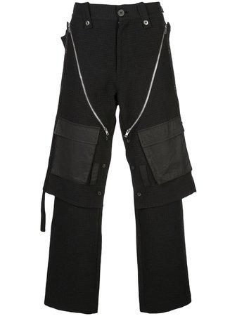 BLACKMERLE Checked Cargo Trousers - Farfetch