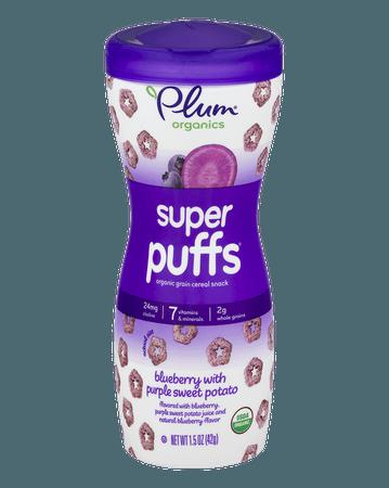 Super Puffs Baby Snacks - Blueberry & Purple Sweet Potato | Plum Organics