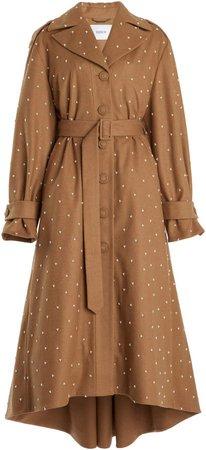 Erdem Vernon A-Line Wool-Blend Coat