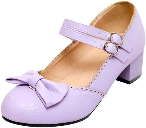 Amazon.com | Latasa Women's Lolita Sweet Buckles Mary Janes | Pumps
