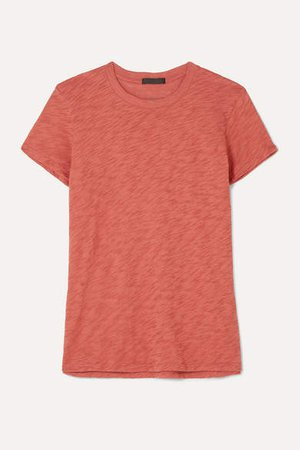 Schoolboy Slub Cotton-jersey T-shirt - Orange