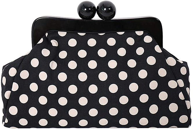 Menurra Polka Dot Evening Bag Clutch Purse for Women Wedding Party Handbag Cocktail Bag: Handbags: Amazon.com