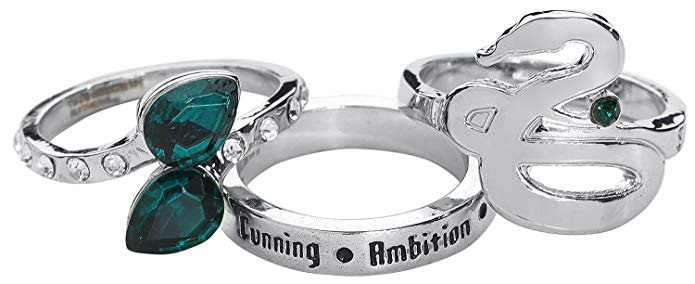 Harry Potter Slytherin Ring silver-coloured: Amazon.co.uk: Jewellery