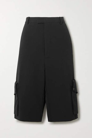 Stretch-twill Shorts - Black