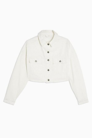 White Denim Hacked Off Jacket | Topshop
