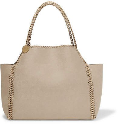 The Falabella Medium Reversible Faux Brushed-leather Tote - Off-white