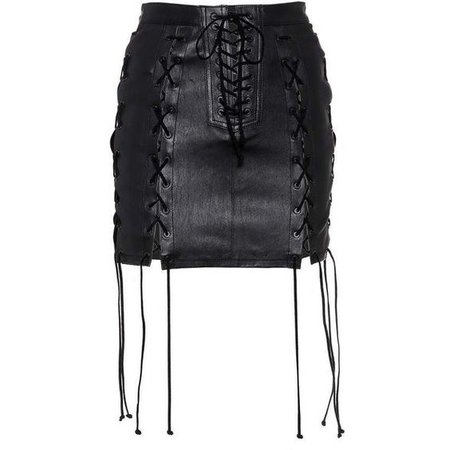 Unravel Leather Skirt