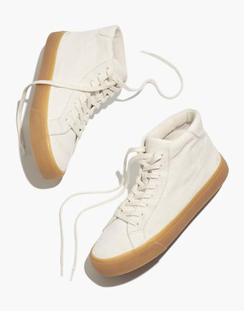 Sidewalk High-Top Sneakers in Recycled Canvas white