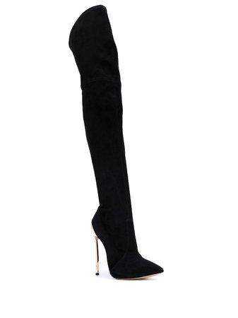 Casadei Techno Blade Thigh-Length Boots 1T873G120MC581 Black   Farfetch