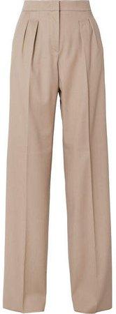 Kenia Wool-twill Wide-leg Pants - Beige