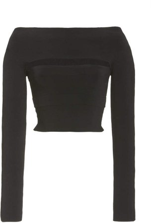 Dion Lee Off-The-Shoulder Crepe Tube Top