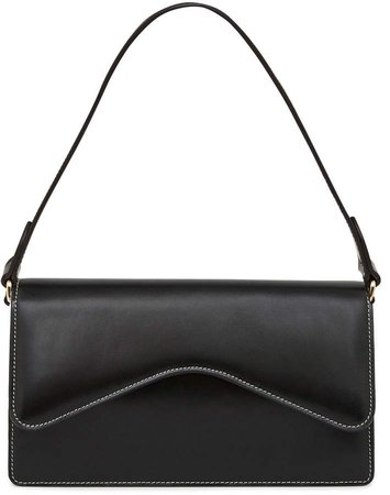 Rylan Baguette Contrast Stitch Leather Shoulder Bag