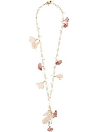 Rosantica Sentiero Flower Charm Necklace | Farfetch.com