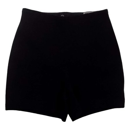 1990's Gianni Versace Hotpants Wool Black Medium size For Sale at 1stDibs