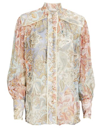 Zimmermann Lucky Bound Floral Paisley Blouse | INTERMIX®