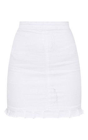 WHITE RUFFLE HEM DENIM SKIRT.JPG (740×1180)