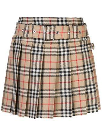 Burberry | Archive Vintage print pleated skirt