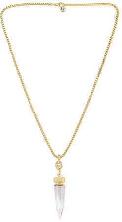 GOLDMINE Clear Crystal Necklace