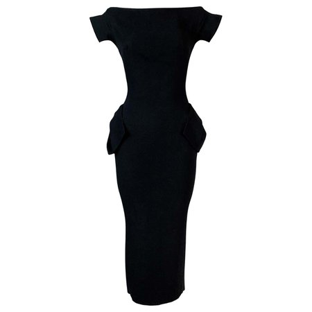 John Galliano, 'Dolores' Pin-Up Black Crepe Dress