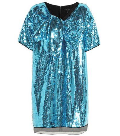 Sequined bow dress