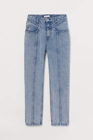 Tapered High Ankle Jeans - Blue