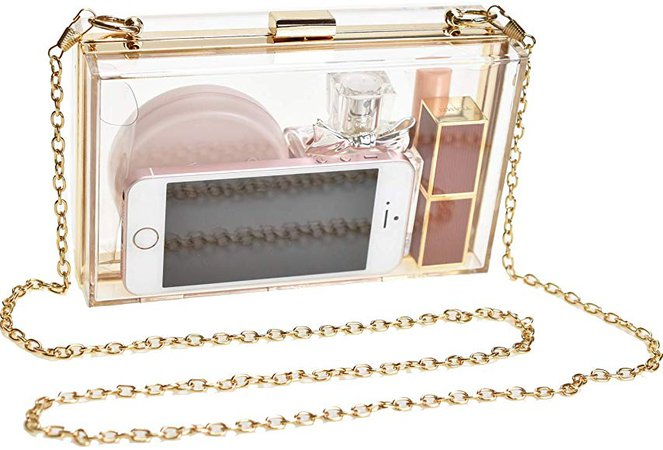 Clear Purse Clutch Acrylic Box for Women, Clear Chain Crossbody Shoulder Acrylic Bags for Girls (Clear Purse): Handbags: Amazon.com