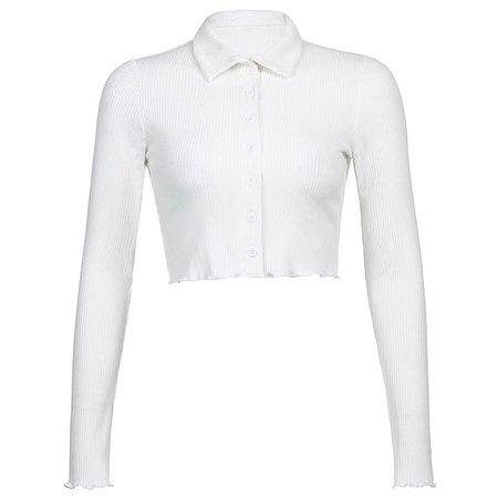 Knitted White Harajuku Crop Top – algrandeboutique